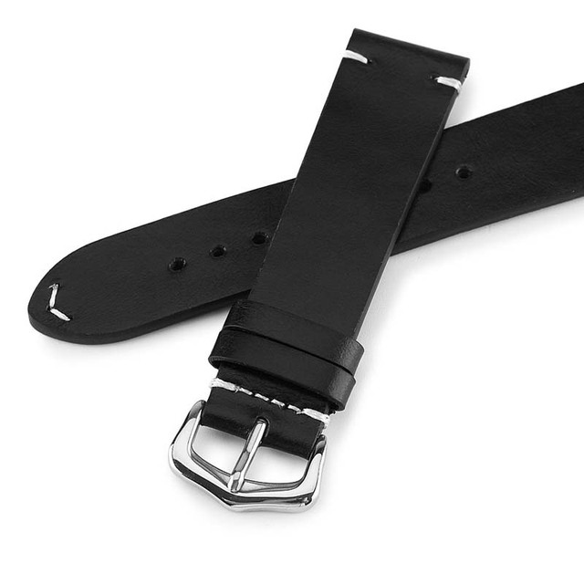 Genuine Oil wax retro oily color leather strap Watchbands 18mm 20mm 22mm 24mm Universal Watch  strap Replacement   Watchbands
