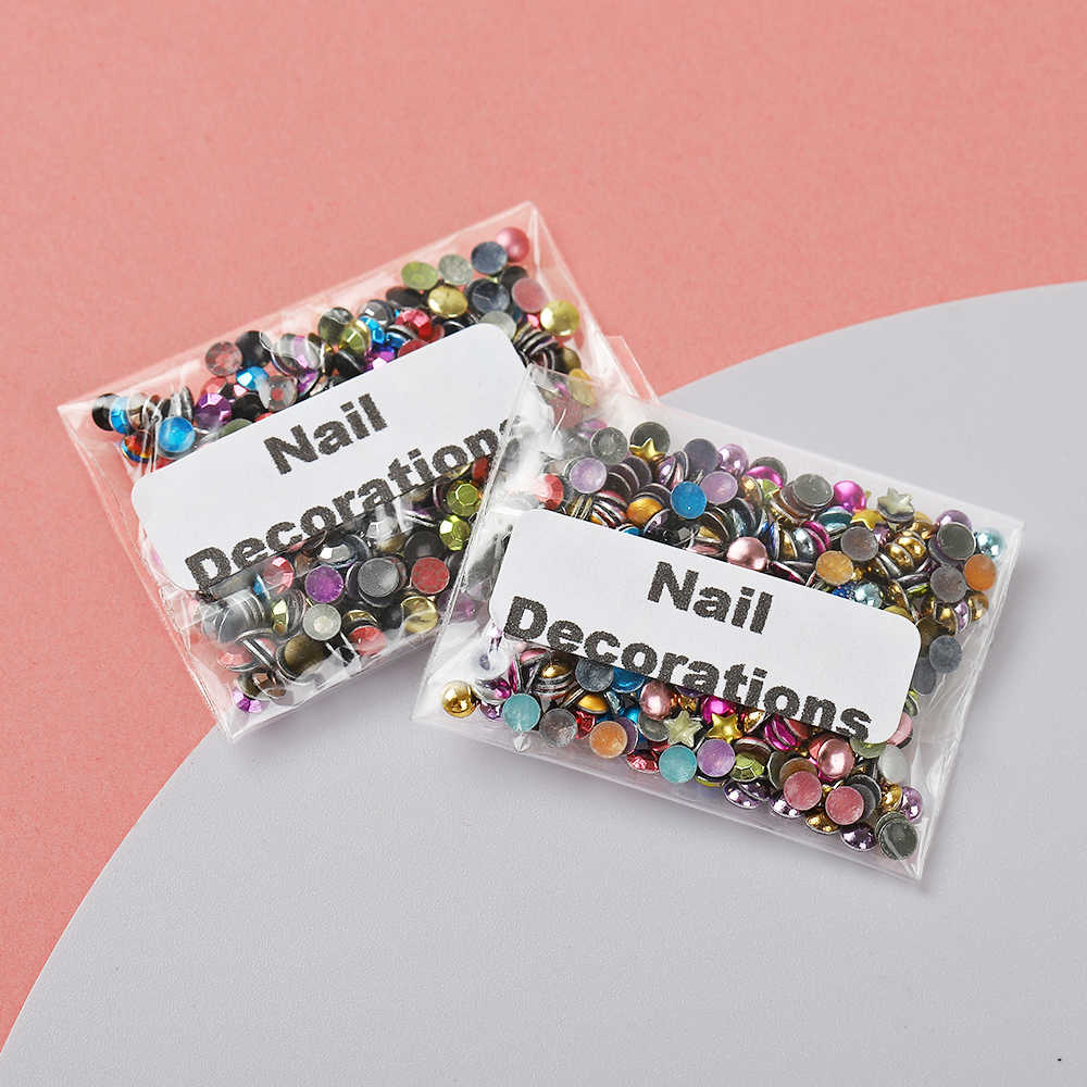 3D Nail Art Decorations Rivet Stud Nail Parts Metal Diamond Glitter Nail Accessories DIY Deco Parts Kawaii Hollow Nail Accessory