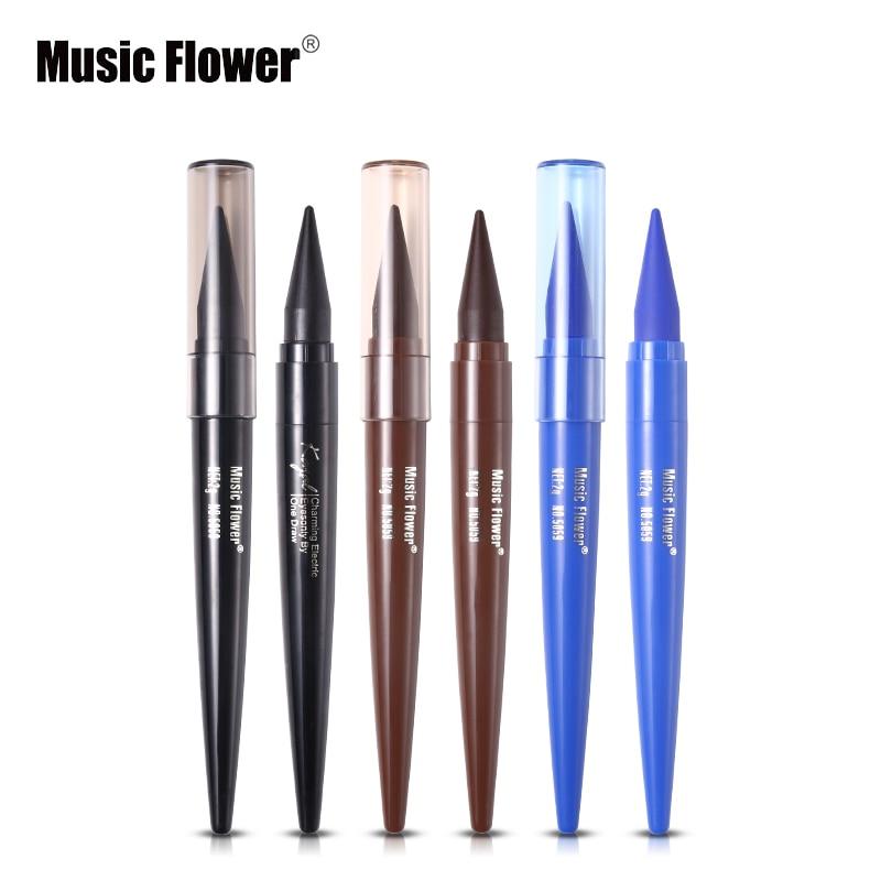 Music Flower Gel Eye Liner Long-lasting Smudge-proof Black Eyeliner Cream Natural Make Up Blue Kajal Pencil Smoky Eyes Make Up