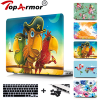 Colorful Parrot Hard case For Apple macbook Air 11 Pro Retina 12 13 15 laptop bag cover For Macbook air 13 case