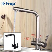 FRAP Kitchen Faucet kitchen sink faucet drinking water dual handle mixer taps with filtered