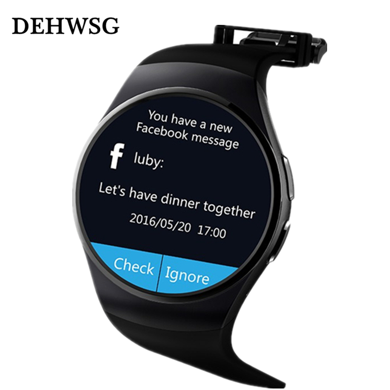 DEHWSG 2018 Smart watch DK18 MTK2502C IPS Full Round Screen support SIM TF Card smartwatch For apple samsung huawei smartphone
