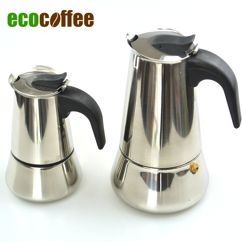 Stainless steel moka espresso latte percolator stove top for Best coffee percolator