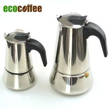 Edelstahl Moka Espresso Latte Percolator Stove Top Kaffeemaschine Topf