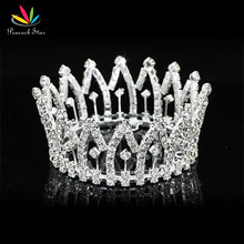 Павлин звезда новорожденного ребенка мини-корона для продажи полный круг Круглый тиара CT1815