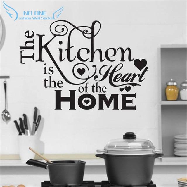 Dapur Rumah Cinta Vinyl Wall Stiker Home Decor Dekorasi Stikers Untuk Dinding Diy