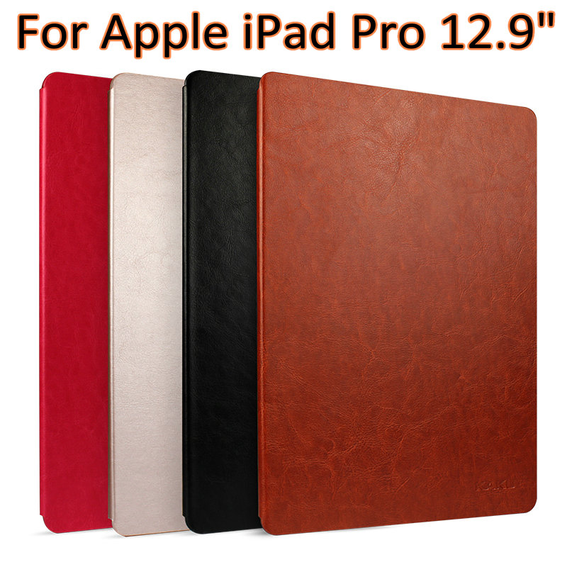 Original   Retro Bussiness Leather Case Stand Cover for apple ipad pro 12.9 sleep/wake up ultrathin smart case+film for ipad pro 9 7 retro crocodile stand wallet smart leather cover dark blue