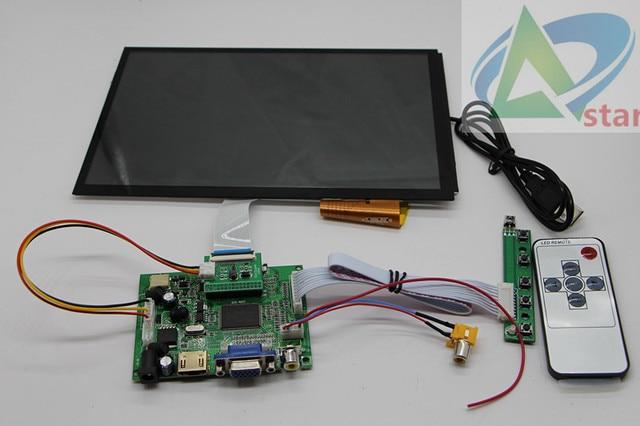 101 Inch 1366x768 169 LCD Capacitive Touch Screen Kit Car Drive Display Suite VGA 2AV HDMI AV2 Astern Is Preferred