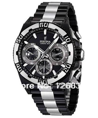 d245c50dd9c Sales promotion Festina F16660-1 Tour de France Limited Edition Men s Chrono  Bike Black Dial Black Steel Quartz Watch F16660 1