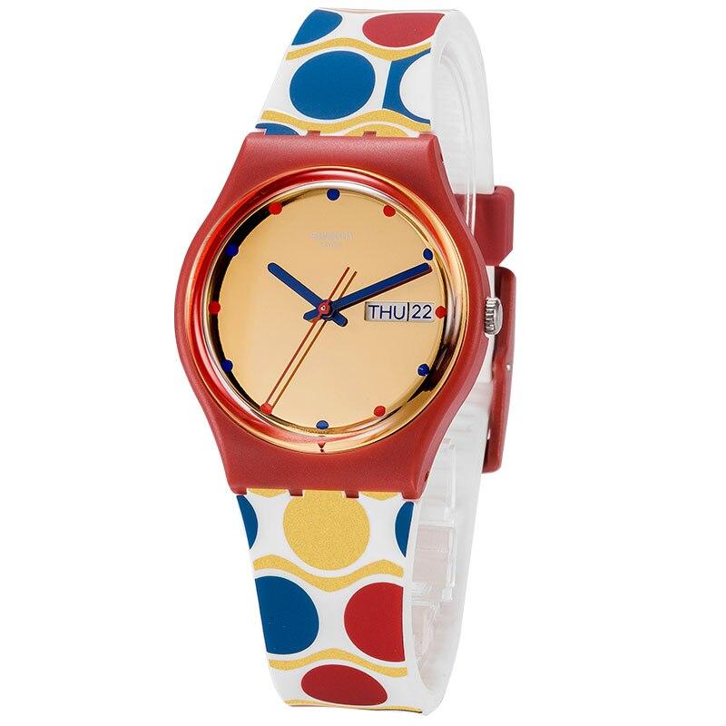 Swatch watch Classic color password series Colorful quartz watch GR708 swatch original colorful quartz watch suob135