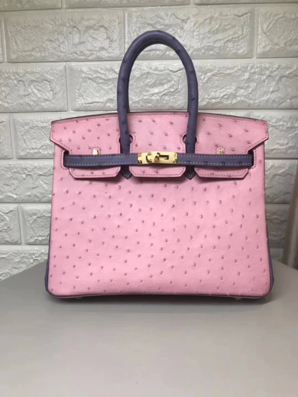 Top Luxury quality 100% genuine real ostrich skin women tote bag 25cm pink purple color ostrich skin small size tote bag ladyTop Luxury quality 100% genuine real ostrich skin women tote bag 25cm pink purple color ostrich skin small size tote bag lady