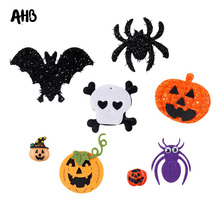 цена AHB 7pcs Mixed Appliques Glitter Rainbow Felt Shiny Glitter Patches DIY Headware Accessories Patches Scrapbooking Sticker онлайн в 2017 году