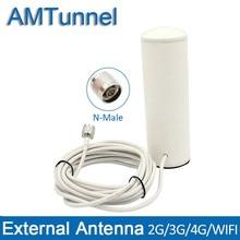 Antena 3G 4G 3G antena interior 4G LTE antena exterior con N macho con cable de 5m para amplificador de señal móvil