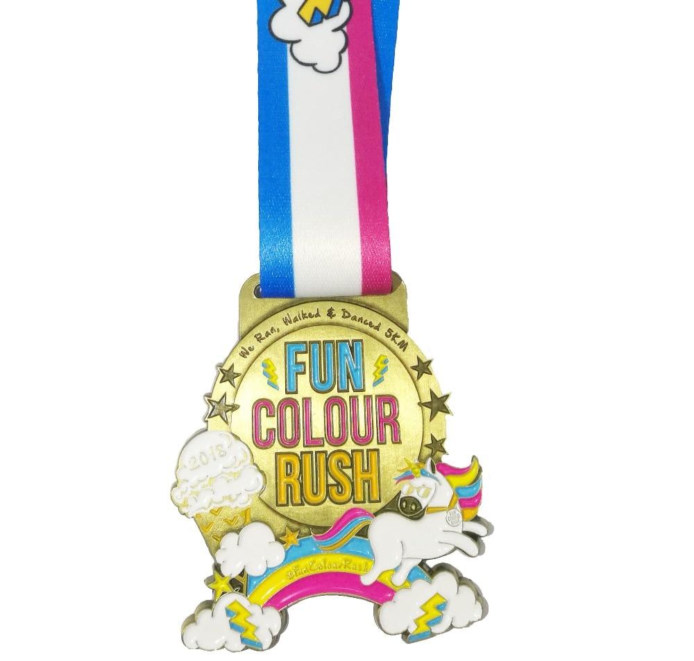 Custom Medalha Medalhas Executados Logotipo Personalizado Com Fita de Natal - 2
