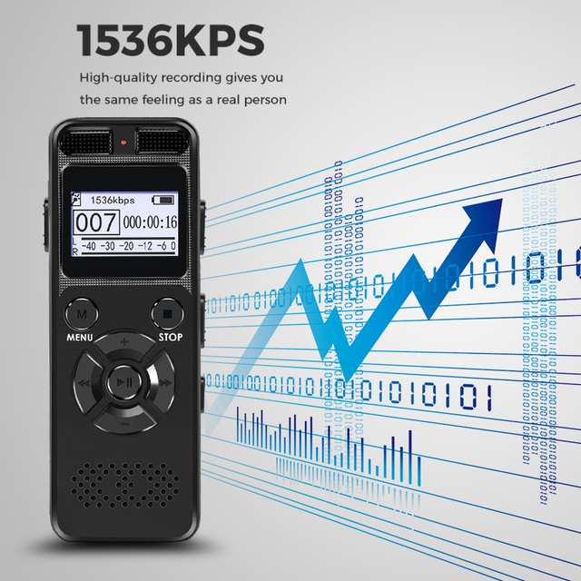 1536KPS High Definition Dictaphone Digital Voice Recorder Registrar Audio Video Sound Microphone Stealthily Device Secret Player