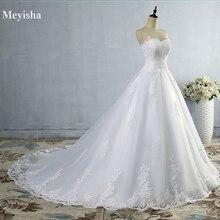 ZJ9059 2019 2020 สีขาวงาช้างTulle Sweetheartชุดแต่งงานReal Photo Courtรถไฟสำหรับเจ้าสาวPlusขนาดสูงคุณภาพ