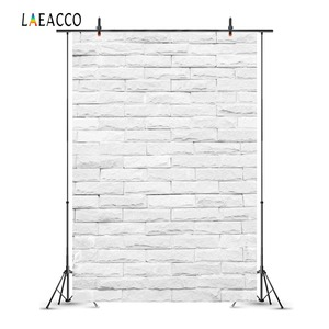 Image 3 - Laeacco Photophone For Food White Brick Wall Vintage Baby Portrait Photography Backdrops Photo Backgrounds Birthday Photocall