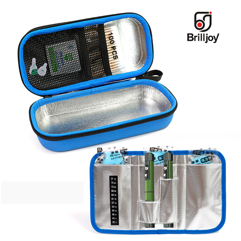 Brilljoy New Portable Insulin Cooler Bag Drugs Diabetic Insulin Travel Case Cooler Pill Box Bolsa Termica Aluminum Foil Ice Bag