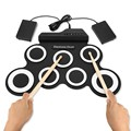 Портативный электронный Midi барабан цифровой USB 7 колодки складной барабан силиконовый Электрический барабан Pad комплект с барабанные палоч...