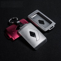 LUNASBORE Aluminum Car Key Cover Case Protector Holder Fit For Renault Koleos Kadjar Keychain Keys With
