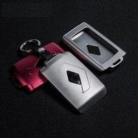 LUNASBORE Aluminum Car Key Cover Case Protector Holder Fit For Renault Koleos Kadjar Keychain Keys With