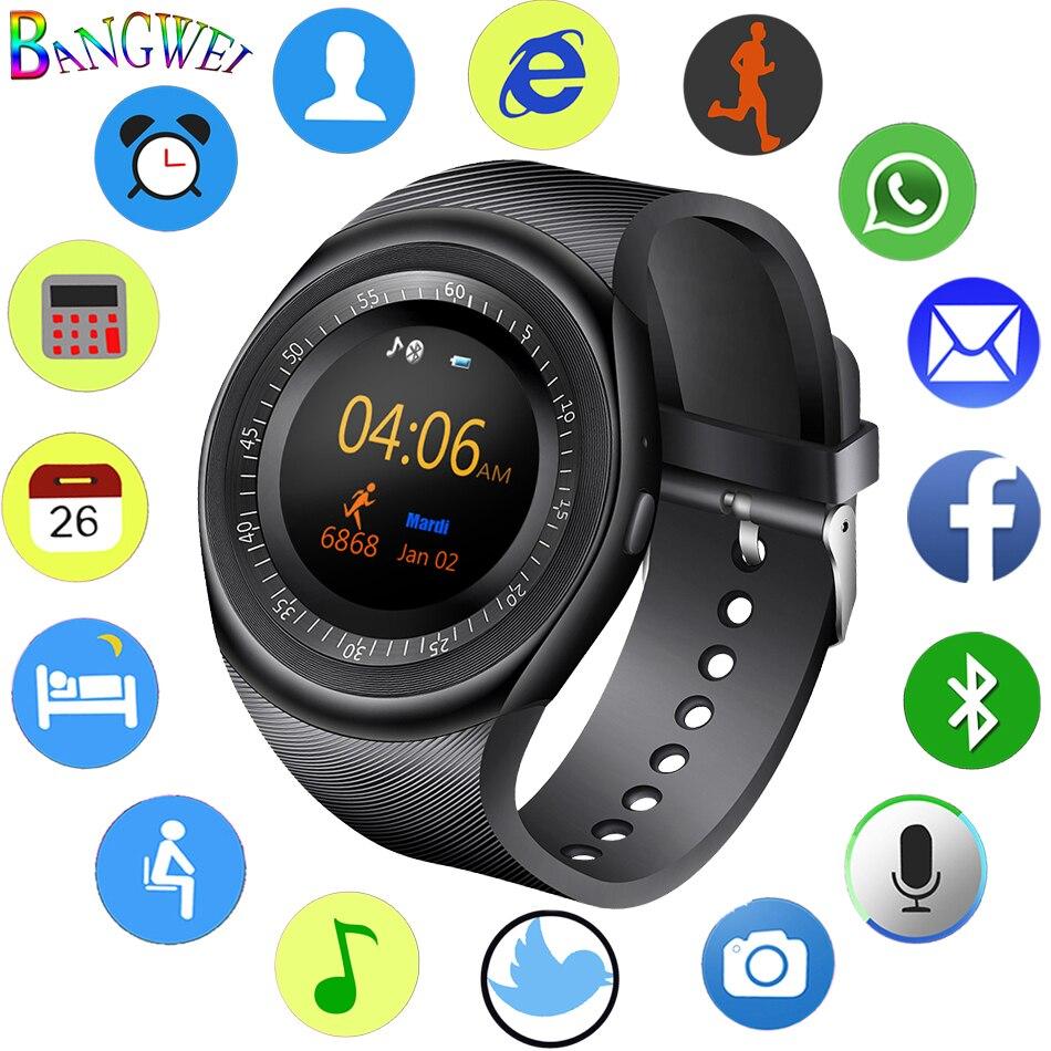 2018 neue Smart Uhr Männer Fitness Sport Schrittzähler SmartWatch Bluetooth Musik Player Sitzende Schlaf Überwachung Reloj inteligente