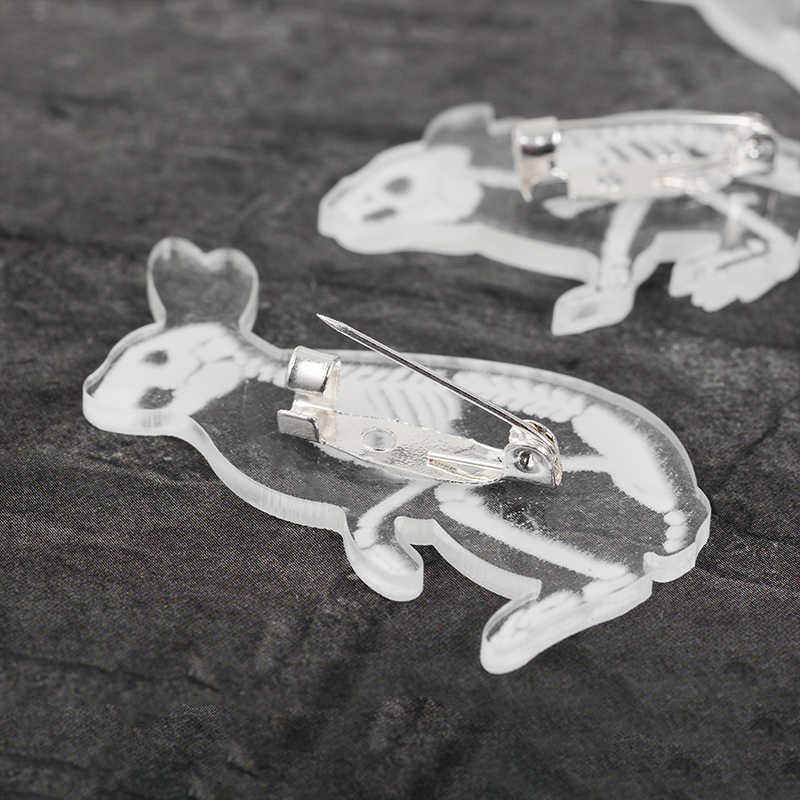โครงกระดูก pins X-ray Bird Cat กระต่ายกระดูกตัวอย่างเข็มกลัดป้ายเคลือบกระเป๋าเป้สะพายหลังการแพทย์ pins ของขวัญเพื่อนเครื่องประดับขายส่ง