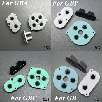 5 models 1x Rubber Conductive Buttons A-B D-pad for Game Boy Classic GB GBO GBC GBP GBA SP Silicone Start Select Keypad недорого