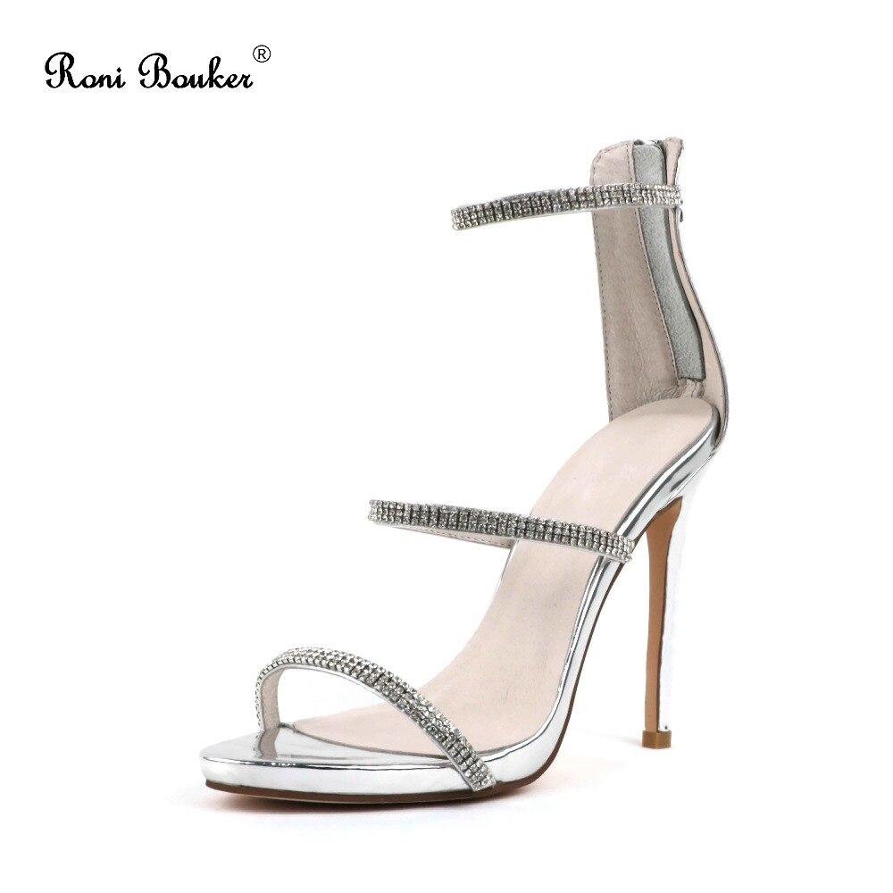 Bezmaksas piegāde Real Shiny Leather Lady Rhinestone Crystal puse - Sieviešu apavi