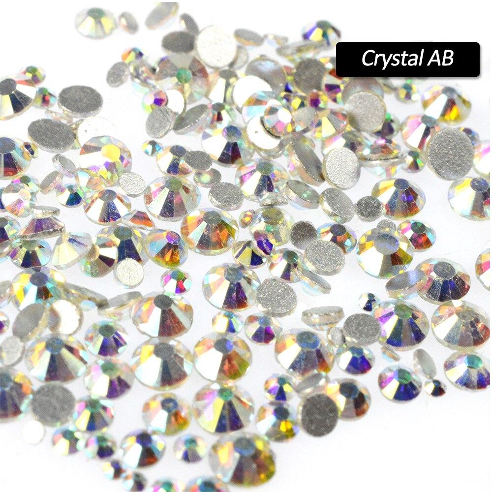 1 упак. Очаровательная Flatback ногтей Стразы комплект и украшения Блеск SS3-SS16 смешивания Размеры для Красота ногти Crystal AB Цвет SA310