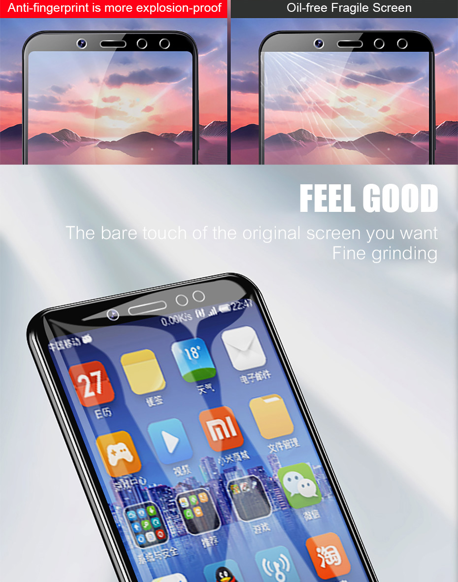 3Pcs Full Cover Tempered Glass For Xiaomi Redmi Note 7 6 5 Pro 5A 6 Screen Protector For Redmi 5 Plus 6A Protective Glass Film 4