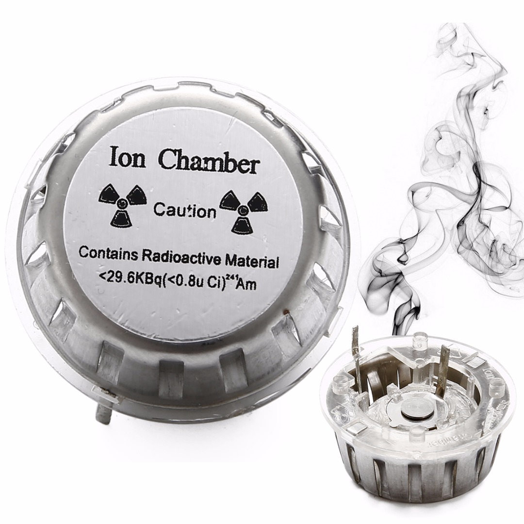 Good Quality Assembled Diy Geiger Counter Kit Nuclear Radiation Schematic Forums Projects 1pc Metal Smoke Detector Sensor Ion Chamber Check Test Source With High Corrosion Resistance