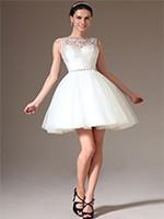 cfccc87e1323 Homecoming Dresses 2014 Fresh Scoop A Line Knee Length White Chiffon ...