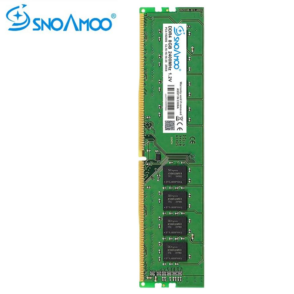 купить SNOAMOO DDR4 4G Desktop PC RAMs 2133MHz PC4-17000S 1.2V DIMM 8G 2400MHz PC4-19200S CL16 RAM Compatible For Intel Memory Warranty по цене 2953.81 рублей