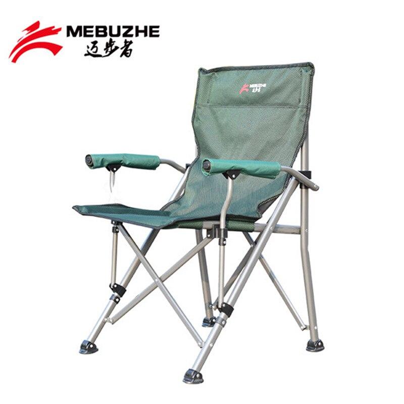 Accoudoir de siège dur en plein air pliant la chaise de plage arrière portant la chaise de camping de pique-nique de 150 KG