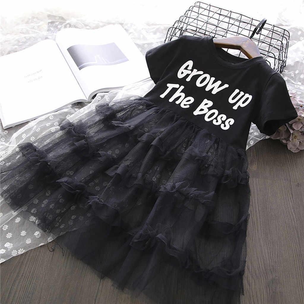 Bebé niño niña niños ropa carta niños princesa vestido de tul traje princesa niño niña vestido de niña traje de fille Hiver