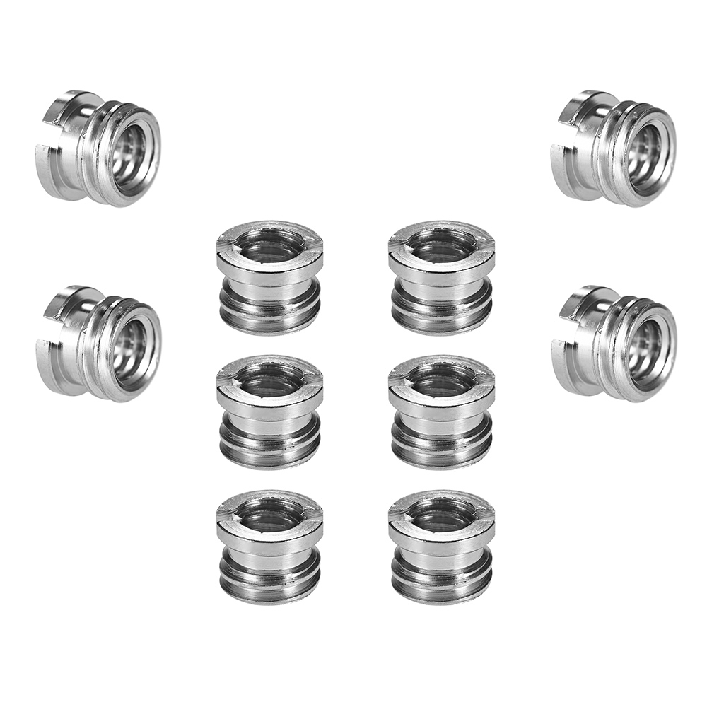 Stand and Video Light DSLR SLR Camera 1//4-20 to 3//8-16 Reducer Bushing Convert Screw Adapter for Tripod,Monopod 10 Pack Ballhead
