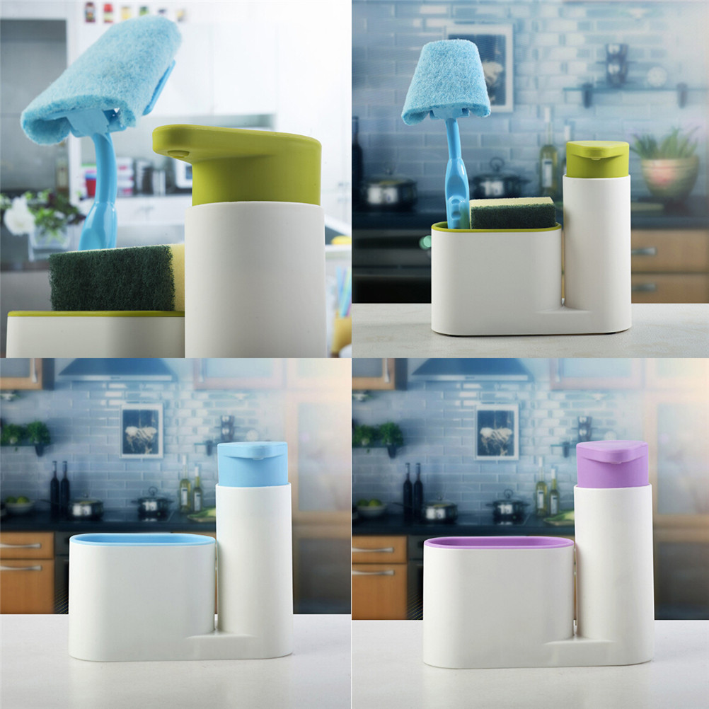 Practical Liquid Soap Shampoo Shower Gel Container Holder Portable ...