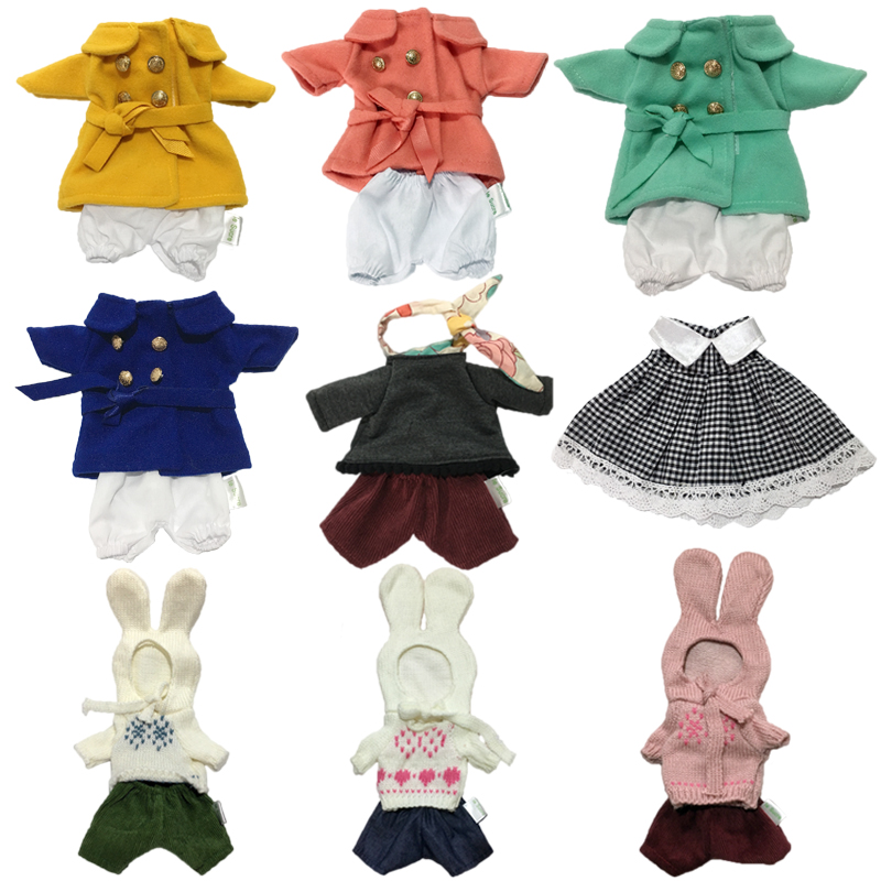 30cm Clothes For Dolls Bunny Cats Bears Plush Toy 1/6 BJD Clothes Dolls Windbreaker Sweater Clothing Girl Toys For Kids Gifts