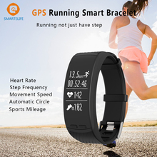 Smartelife GPS спортивный смарт-браслет подножка Велоспорт восхождение с сердечного ритма Мониторы шагомер барометр для iOS и Android