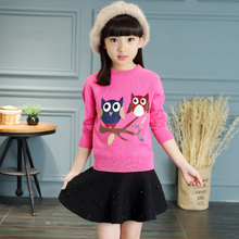 Autumn female child sweater child autumn sweater children's clothing autumn and winter girl long-sleeve clothes 6-8-10 – 12