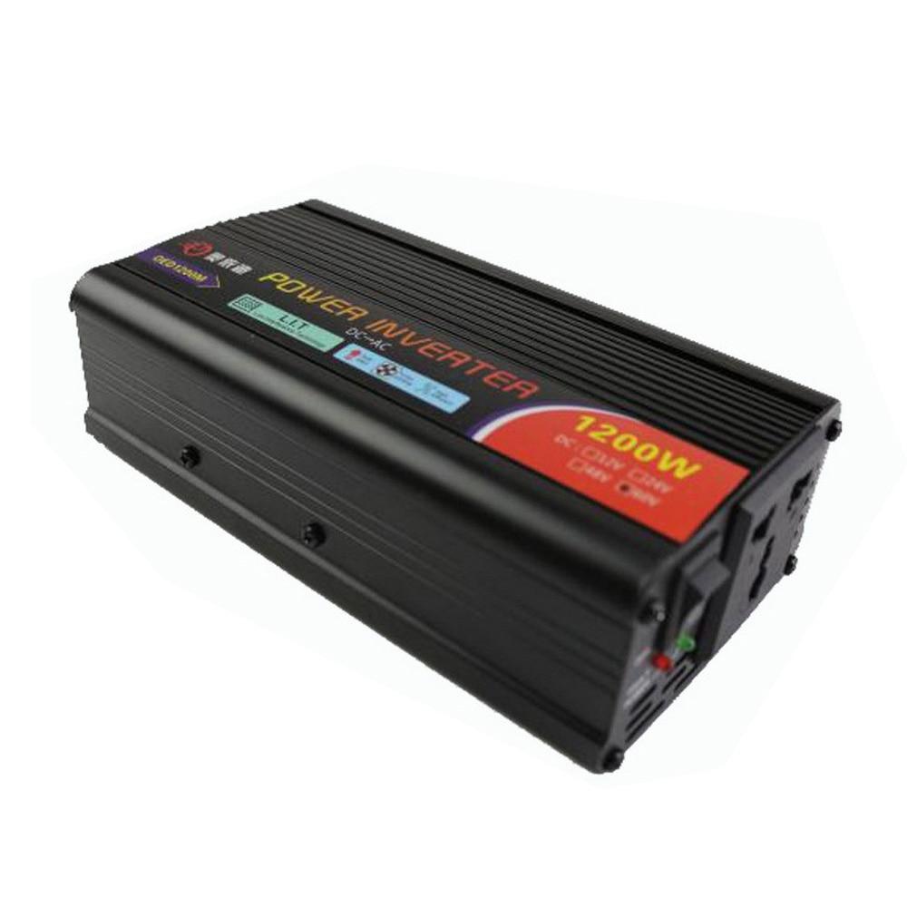 Car Inverter 1200W Modified Sine Wave DC 12V to AC 110V 220V Universal Socket Power Converter Adapter Auto Inverters