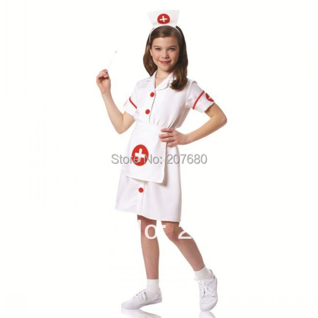 Nurse costumes Party fancy dress Halloween costumes for school girls Stage performing clothing