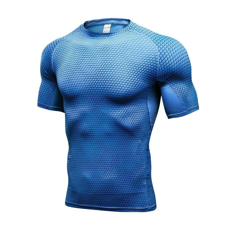Lovmove Running Shirt Compression Quick Dry Breathable Gym Shirt Elstic Sweat Sport Shirt Fitness Men Clothing Rashgard Male 1