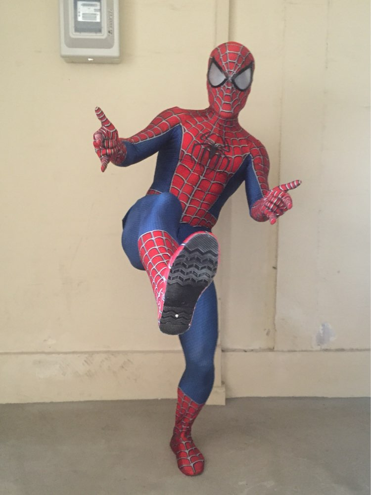 Raimi Spiderman Costume 3D Print Fullbody Halloween Cosplay Suit For Adult/Kids/Custom Made Include glasses and shoes