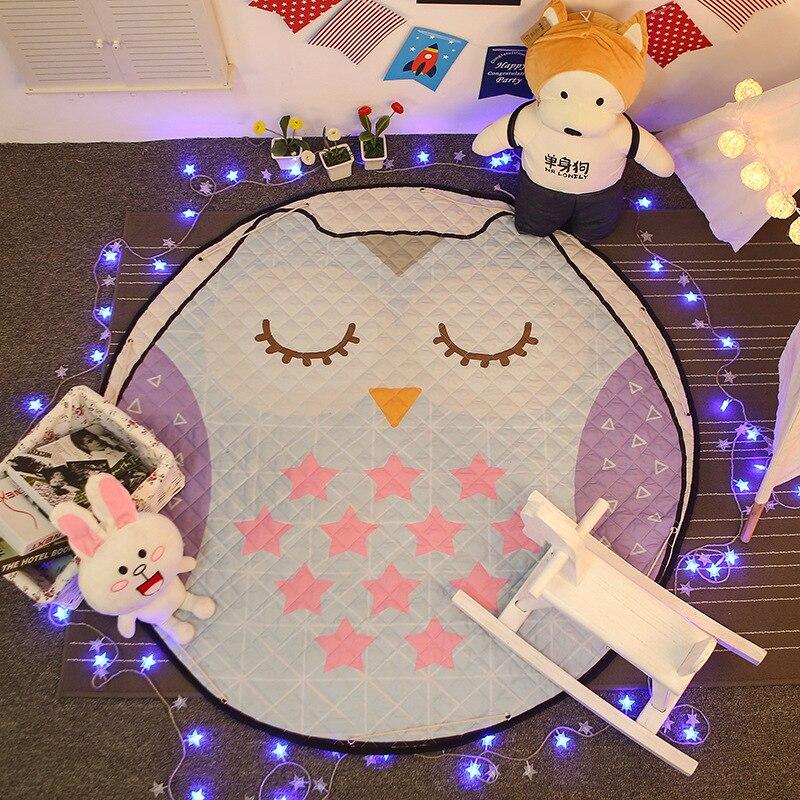 Drawstring Toys Storange Bag for Children Baby Play Mat Baby Gym Carpet Cartoon Playmats Crawling Mats Diam1.5m tapete infantil