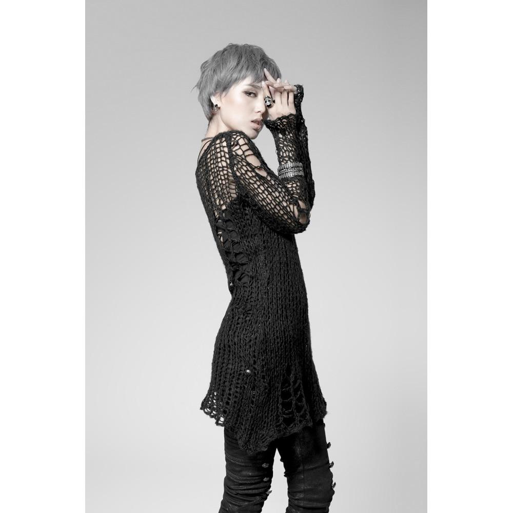 Punk Gothic SWEATER Visual Kei mode Kera Black Shirt Top TOP Black - Dametøj - Foto 3
