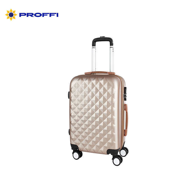 Stylish beige PROFFI TRAVEL PH8368beige, M, medium plastic with retractable handle with combination lock stylish 20 pcs multifunction plastic handle nylon makeup brushes set