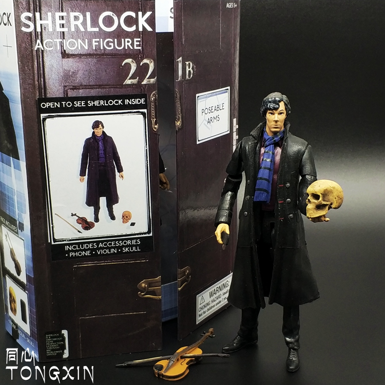 5 Sherlock Benedict Cumberbatch Figure Doctor Who Custom Fodder Last One Collection Model Decoration Gift image