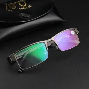 Stainless Membaca Kacamata Komputer Lensa Wanita Pria Kacamata Anti Blue Ray Gafas De Lectura 1.00 1.50 2.00 2.50 3.00 3.50 4.00